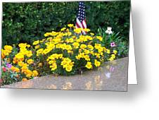 Posies In The Rain Greeting Card