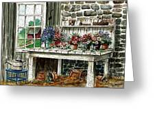 Potting Bench Greeting Card