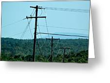 Power Lines 52 Greeting Card