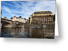 Prague From Vltava Greeting Card
