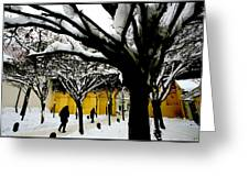 Prague Winter  Greeting Card