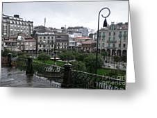 Praza Da Ferreria In Pontevedra Greeting Card