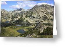 Prevalski And Valyavishki Lakes Pirin National Park Bulgaria  Greeting Card