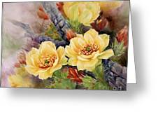 Prickly Pear In Bloom Greeting Card