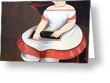 Prior Hamblin School's Little Girl With Slate Greeting Card