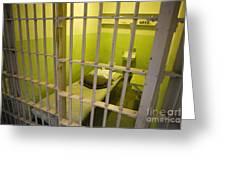 Prison Cell Alcatraz Island Greeting Card