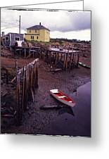 Private Jetty Northern Maine Greeting Card