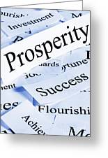 Prosperity Concept Greeting Card