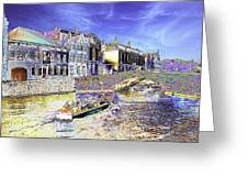 Psychedelic Bruges Canal Scene Greeting Card