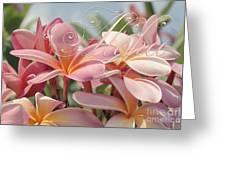 Pua Melia Ke Aloha Maui Greeting Card