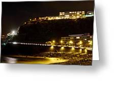 Puerto De La Cruz By Night Greeting Card