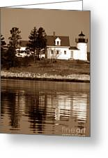 Pumpkin Island Lighthouse Greeting Card
