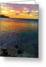 Purple And Orange Sunset Greeting Card