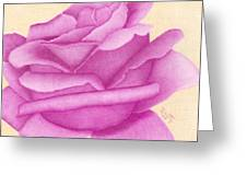 Purple Organdy Rose Greeting Card