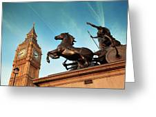 Queen Bodica Statue In London Greeting Card
