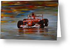 Racing Car Greeting Card