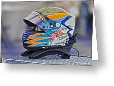 Racing Helmet 2 Greeting Card