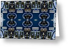 Radio Parts In Blue Greeting Card