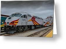 Rail Runner Locomotive Greeting Card