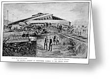 Railroad Accident, 1887 Greeting Card