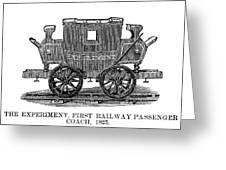 Railroad Passenger Car Greeting Card