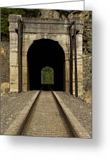 Railroad Tunnel 3 Bnsf 1 B Greeting Card