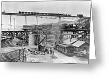 Railroading Construction Greeting Card
