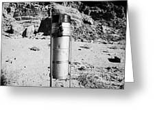 Rain Gauge At Valley Of Fire State Park Nevada Usa Greeting Card