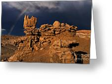 Rainbow And Sandstone Formations Fantasy Canyon Utah Greeting Card