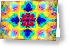 Rainbow Light Mandala Greeting Card