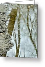 Raindrops On Reflections II Greeting Card