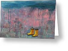 Rainy Day Galoshes Greeting Card
