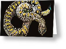 Rattlesnake Bedazzled Greeting Card