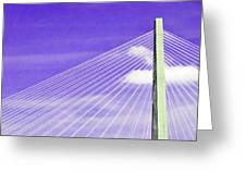 Ravenel Bridge # 2 Greeting Card