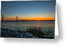 Charleston Sundown Greeting Card