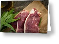 Raw Meat Greeting Card