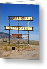 Rawlins Wyoming - Grandma's Cafe Greeting Card