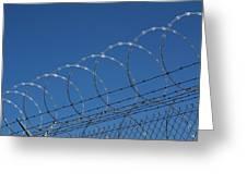 Razor Wire Fence In Las Vegas Greeting Card