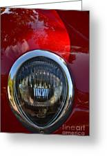 Red Classic Ford Greeting Card