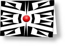 Red Ball 8 Greeting Card