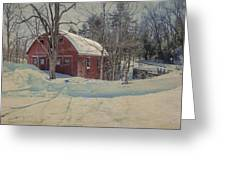 Red Barn Another View Greeting Card