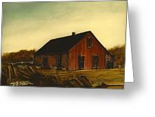Red Barn   No. 3 Greeting Card