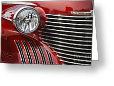 Red Cadillac Greeting Card