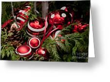 Red Christmas Balls Greeting Card