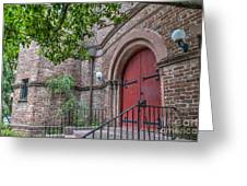 Church Red Door Greeting Card