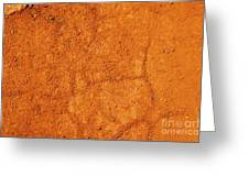Red Earth Or Soil Background Greeting Card