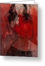 Red Is The Color Of Love Greeting Card