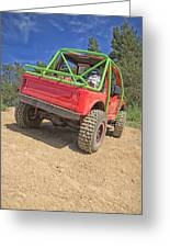 Red Off Road Car  Greeting Card