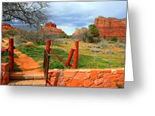 Enter Red Rock Country Greeting Card
