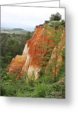 Red Rocks Of Roussillon  Greeting Card
